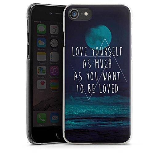 Apple iPhone X Silikon Hülle Case Schutzhülle Mond Ozean Statement Hard Case transparent