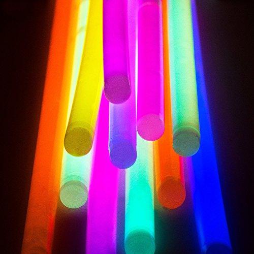 Imagen de bbm [solamente 100 varitas luminosas y 100 conectores reutilizables] varitas luminosas fluorescentes pulseras luminosas para fiestas formar pulseras alternativa