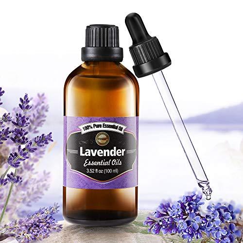 Aceite Esencial de Lavanda Puro aceite 100% orgánico, prensado en frío, filtrado y sin...
