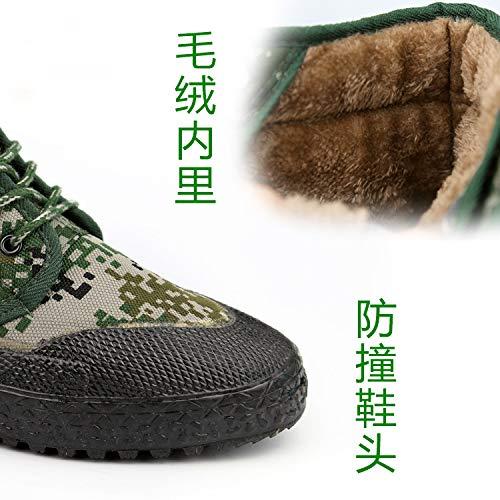 KMJBS Scarpe da Uomo/Rilascio di Scarpe La Mimetizzazione Formazione Cotone Scarpe Riscaldati Lavoro Lavoro.Travestimento 44