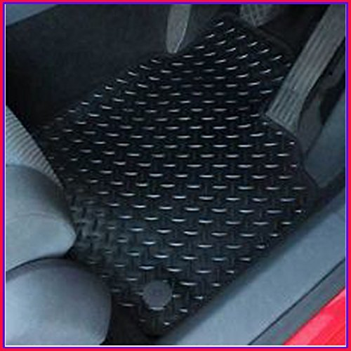 MIDELTON SA36900 Rubber & Black Trim Tailored Car Mats