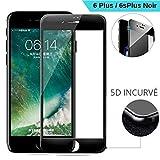 SAGPAD Verre trempé pour iphone 6 Plus/ 6s Plus [Noir]- Garantie 3 Ans- Marque...
