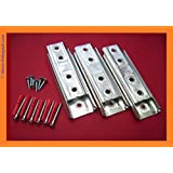 SUPERIOR Headboard wall bracket KIT. HEAVY DUTY Concealed/Panel/Fitting. With fixings (Set of 3)