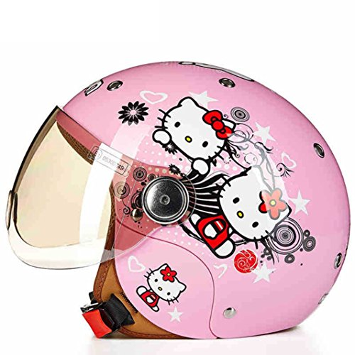 Lidauto Kinderhelme Sicherheit Fahrräder Jahrgang Karikatur Individualität,Pink-Cat