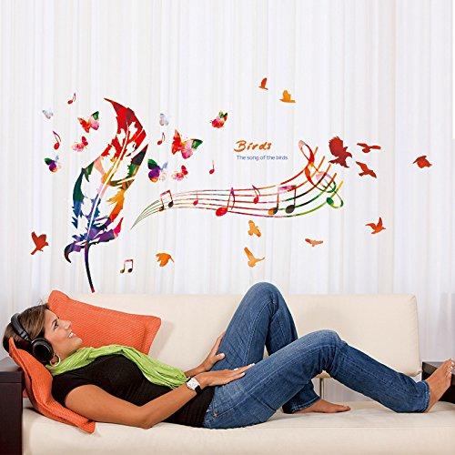 personnel-de-musique-mural-entree-salle-autocollant-salon-chambre-enfants-et-sticker-decoratif-plume