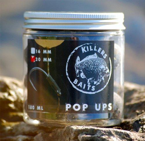 Carp Killers Pop Up Boilies Black Hash 100g (16mm / 20mm), Durchmesser:16mm