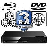 Panasonic DMP-BDT380EB Smart 3D 4K Upscaling WiFi ICOS Multi Region All Zone Code Free Blu-ray Player. Blu-ray regions A, B and C, DVD regions 1 - 8. YouTube, Netflix etc. HDMI output. HDD Playback.