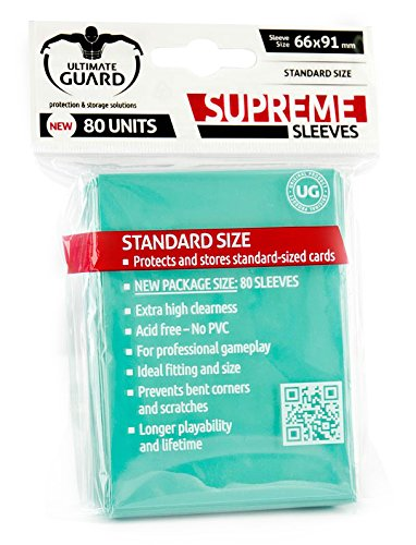 Ultimate Guard Supreme Sleeves Standard Size Turquoise (80) Ultimate Guard