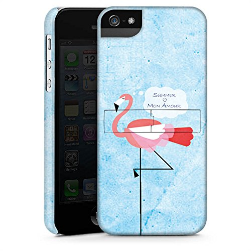 Apple iPhone X Silikon Hülle Case Schutzhülle Flamingo Sommer Pink Premium Case StandUp
