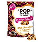 Popworks Milk Chocolate & Caramel Drizzle Flavour Popcorn,...
