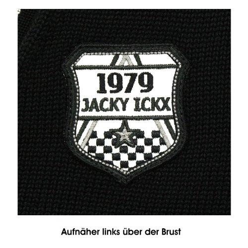 Jacky Ickx Double Black Edition, Strickjacke, 311769, schwarz flanell meliert [10979] Schwarz