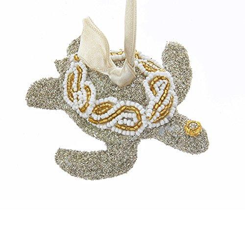 Kurt Adler Vintage Glamour Glas Glitzer Meer Schildkröte Ornament