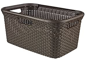 Curver Style 45 L Rectangle Plastic Laundry Basket Brown