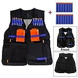 Toy - Yalulu Elite taktische Weste Tactical Vest mit 20 Stück Weiche Schaumstoff blau Darts für Nerf Gun N-Strike Elite Series (Tactical Vest mit 20 Darts)