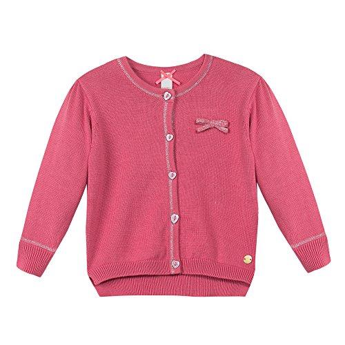 Esprit Kids Baby-Mädchen Strickjacke Cardigan, Rosa (Pink 670), One size (Herstellergröße: 92)