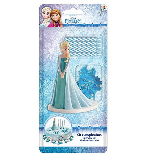Dekora-303002 Frozen Figure for Cakes with 5 Birthday Candles Blue Color (303002