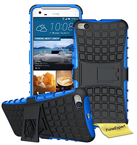 HTC One X9 Handy Tasche, FoneExpert® Hülle Abdeckung Cover schutzhülle Tough Strong Rugged Shock Proof Heavy Duty Case für HTC One X9 + Displayschutzfolie (Blau)