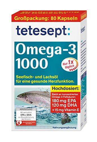 Tetesept Omega 3 Lachsoel, 1er Pack (1 x 80 Stück) Test