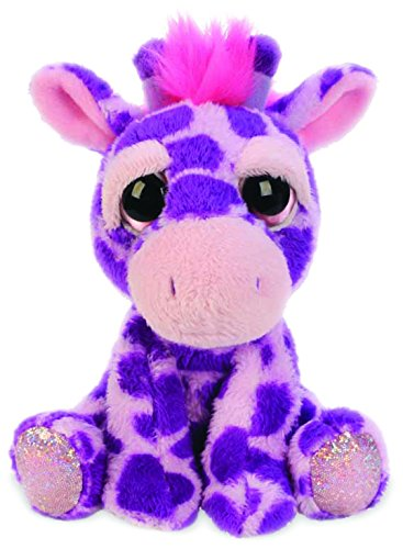 suki-gifts-lil-peepers-fun-violet-giraffe-plush-toy-with-pink-sparkle-accents-small-pink-purple