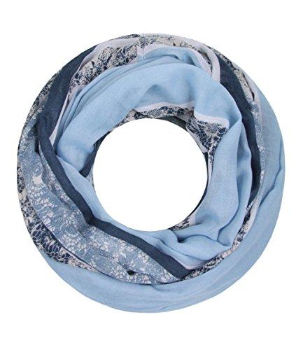 Majea NEU Damen Loop Schal viele Farben tolle Muster Schlauchschal Halstücher XXL (blau 6)