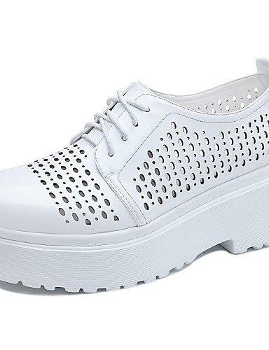 ZQ hug Scarpe Donna-Sneakers alla moda-Ufficio e lavoro / Formale / Casual-Comoda-Piatto-Sintetico-Nero / Bianco , white-us8.5 / eu39 / uk6.5 / cn40 , white-us8.5 / eu39 / uk6.5 / cn40 white-us6 / eu36 / uk4 / cn36