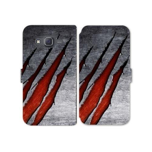 Cokitec RV Leather Flip Case Schale Samsung Galaxy J3 (2016) Texture - Beton B