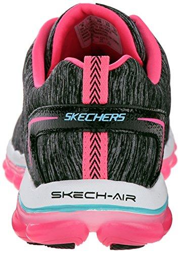 Skechers Skech-Air 2.0Sweet Life, Scarpe da Ginnastica Donna Nero (Nero (Bkhp))