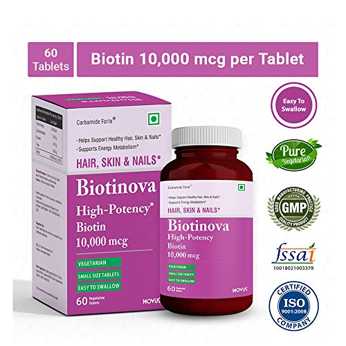Carbamide Forte Biotinova High Potency Biotin for Hair Growth, Glowing...