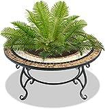 Centurion Supports Topanga High-End Luxuriös Multifunktionale Garten und Terrasse Pflanzgefäß, Heizung Fire Pit Kohlebecken, Couchtisch, Grill und Ice Eimer mit Keramik Fliesen