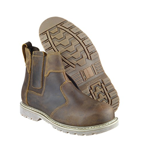 Comprar Barato Auténtica Amblers Steel Slip-On Textile Lined Mens Boots - Brown - Size 11 Marrone (Marrone) Venta Barata Wiki Salida En Italia o2d6n88g