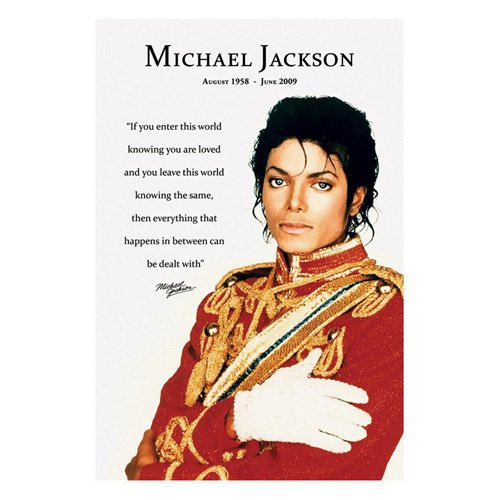 Póster Conmemorativo Michael Jackson 61x91,5cm Producto Oficial