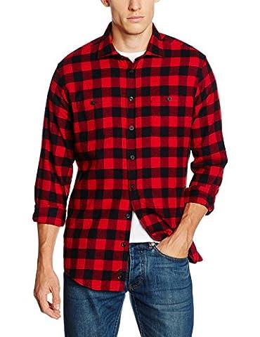 Redford Herren Freizeit Hemd Regular Fit, Mehrfarbig (Schwarz Rot 02), Kragenweite: 42 cm (Herstellergröße: 4142)