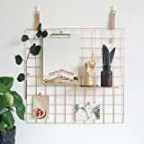 Drahtgitter, multifunktionale Schmuck Organizer Metallrahmen Mesh Foto Display Rack für Memo Artwork Foto Rose Gold Bullet