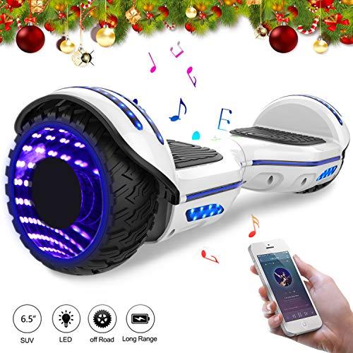 hoverboard elettrico 6.5'' e-star,scooter elettrico auto bilanciamento ruote con led bluetooth, motore 700w