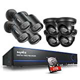 SANNCE 16-Channel 1080N DVR HomeGuard DIY CCTV Kit w/ 2TB HDD + 8 720P Weatherproof Outdoor CCTV Cameras Surveillance System (HDMI Output, Peer to Peer, 100ft Super Night Vision)