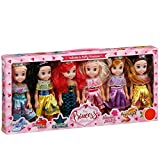 Die hübsche Prinzessin Doll Collection Set von 6 Disney Princess Dolls