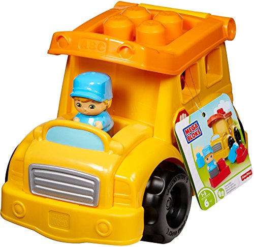 Mega Bloks Mattel DYT59 - Schulbus, gelb (Bloks Autos Mega)