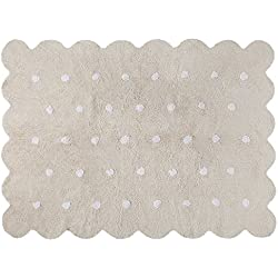 Alfombra Lavable Lorena Canals Galleta Color Beige 120x160