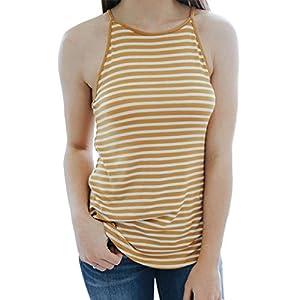FORH Frauen Tank Tops Ärmellos Beiläufige Weste Mode Gestreiften Gedruckt T-Shirt V-Ausschnitt Lose Bluse Elegant Schick Vest Sommer Lang Hemden Trägertop Oberweite
