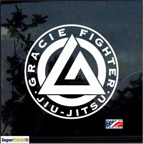 SUPERSTICKI Circle Gracie Brarra Jiu Jitsu MMA Graphic ca.20cm Aufkleber,Autoaufkleber,Sticker,Decal,Wandtattoo, aus Hochleistungsfolie,UV&waschanlagenfest, -