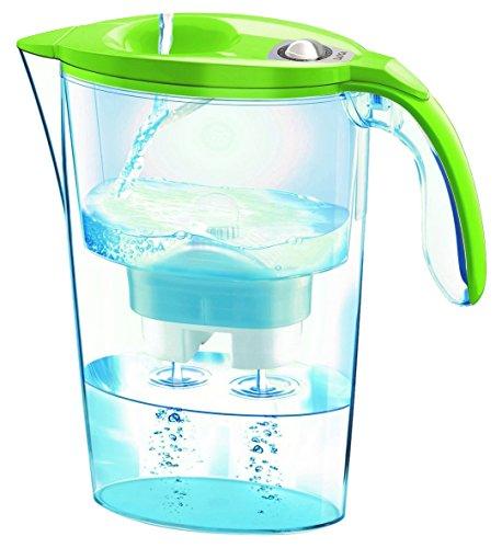 Laica Stream - Jarra filtradora mecánica, color transparente y verde