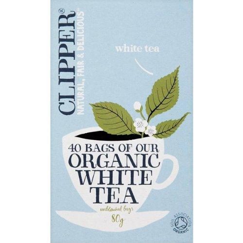 Clipper Organic White – weißer Bio Tee, 40 Teebeutel (80g)
