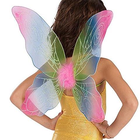 Ailes Aile fée Papillon Multicolore Enfant - Accessoire Deguisement - 078