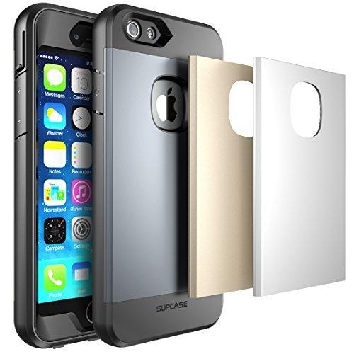 iPhone 6S Plus Schutzhülle, SUPCASE Fullbody Rugged wasserabweisend Case für Apple iPhone 6Plus 14cm mit eingebauten Displayschutzfolie und 3austauschbare Abdeckungen) (Silber/Gold/Grau) (6 Wireless Plus Tastatur Iphone)