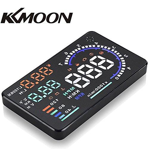 Preisvergleich Produktbild kkmoon A8HUD 5.5 Zoll-Auto-HUD Kopf Oben OBD2 OBDII Kraftstoffverbrauch