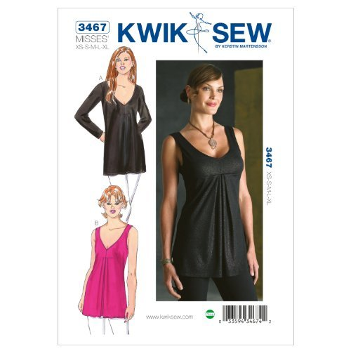 Kwik Sew K3467 Tops Sewing Pattern, Size Misses XS-S-M-L-XL by KWIK-SEW PATTERNS