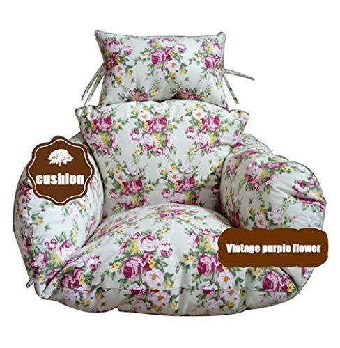Vintage Patio Stühle (Stuhl Kissen Schaukel Stühle Kissen Mit Kissen Vintage Lila Blume Multicolor Muster Hängende Ei Hängematte Stühle Kissen Nest Pads (Nur Kissen))