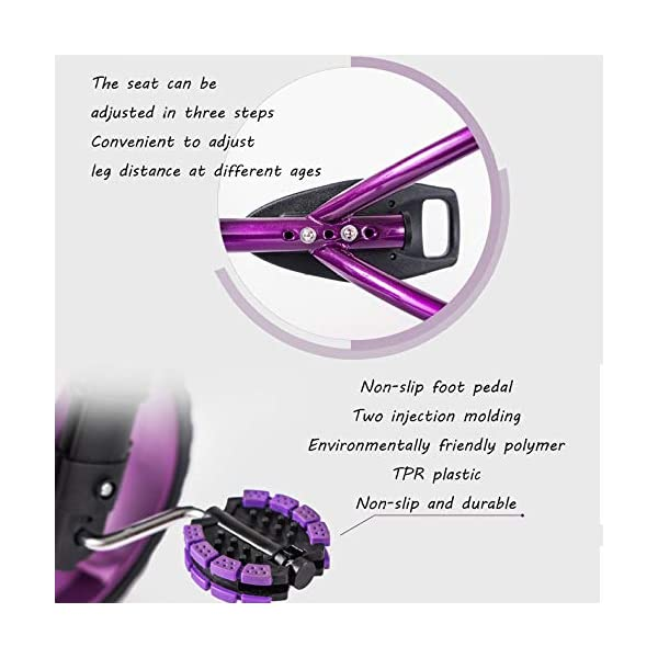 Childrens Tricycles 2 To 5 Years Easy Installation Kids' Trikes Anti-slip Pedals The Seat Can Be Adjusted Back Kids Tricycle Maximum Weight 25 Kg,Purple BGHKFF ★Material: Steel frame + TPR plastic, suitable for children aged 2-5, maximum weight 25 kg ★ Size: 57.5*25.5*38 cm/22.6*10*15inchs ★Cushion: sponge-filled, artificial PU leather, shock absorption, protect your baby's butt, soft and comfortable, dry and breathable, environmentally friendly 5