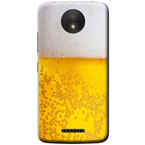 Nahaufnahme schaumiges Bier weiße Krone Hartschalenhülle Telefonhülle zum Aufstecken für Motorola Moto C