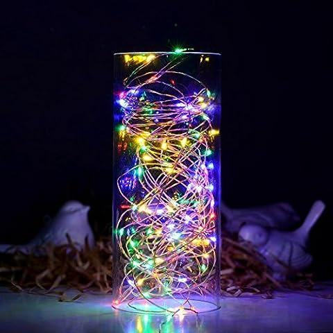 Satu Brown Guirlande lumineuse 100LED 10m avec Télécommande, compatible avec